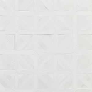 Snow White Multi Finish Ponte Basket Marble Mosaics 37,7x37,7