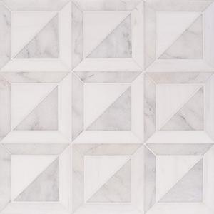 Snow White, Avalon Multi Finish York Marble Mosaics 30,3x30,3