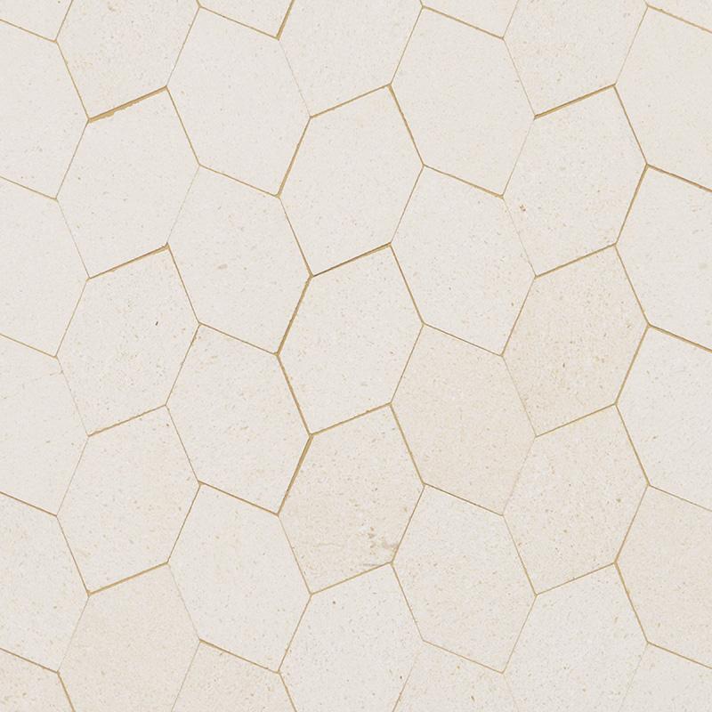 Champagne Honed Autumn Leaf Marble Mosaics 30×34,5