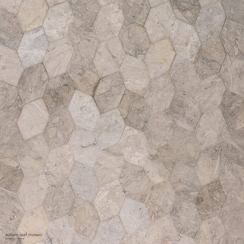 Britannia Honed Autumn Leaf Limestone Mosaics 30×34,5