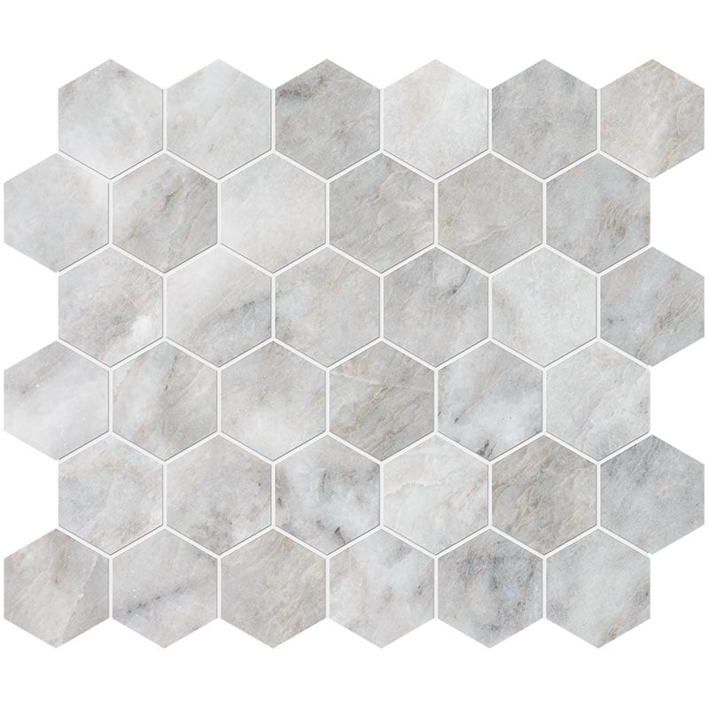 Alloy Honed 26,5x31 Hexagon Marble Mosaics