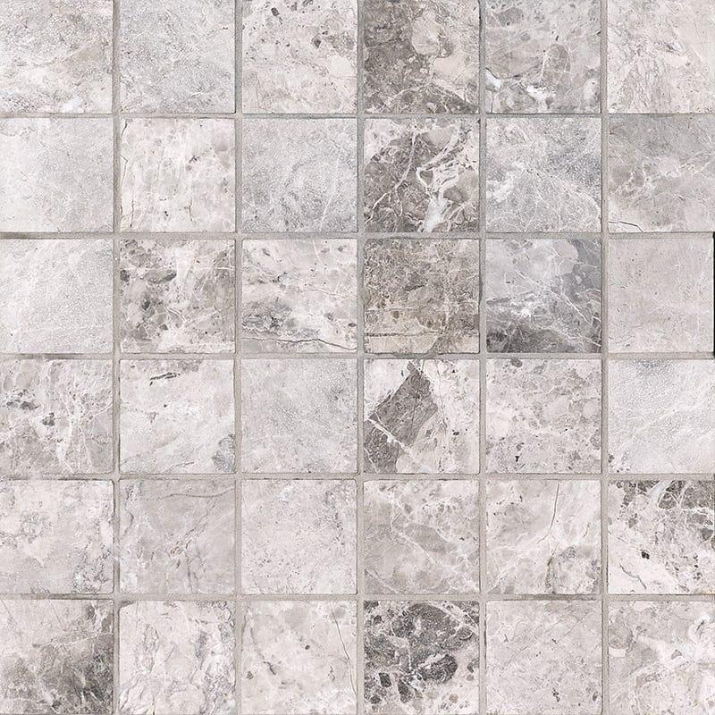 New Tundra Gray Polished 2×2 Marble Mosaics 30,5×30,5