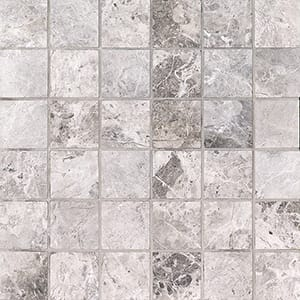 New Tundra Gray Honed 2x2 Marble Mosaics 30,5x30,5