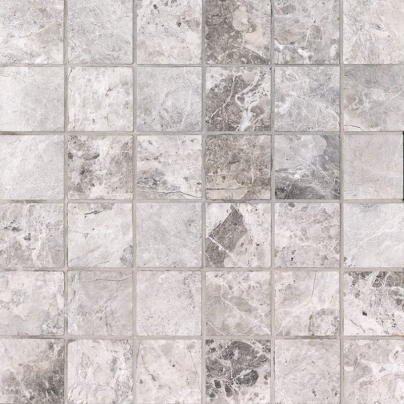 Tundra Gray Honed 30,5x30,5 2x2 Marble Mosaics