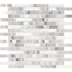 Skyline Honed 1,5x7,6 Marble Mosaics 30,5x30,5