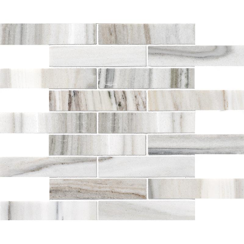 Skyline Honed 3×15,2 Marble Mosaics 30,5×30,5