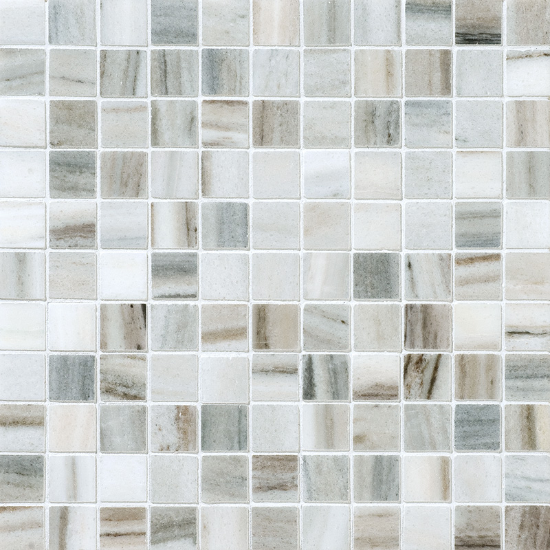 Verona Blend Honed 2,3×2,3 Marble Mosaics 30,5×30,5