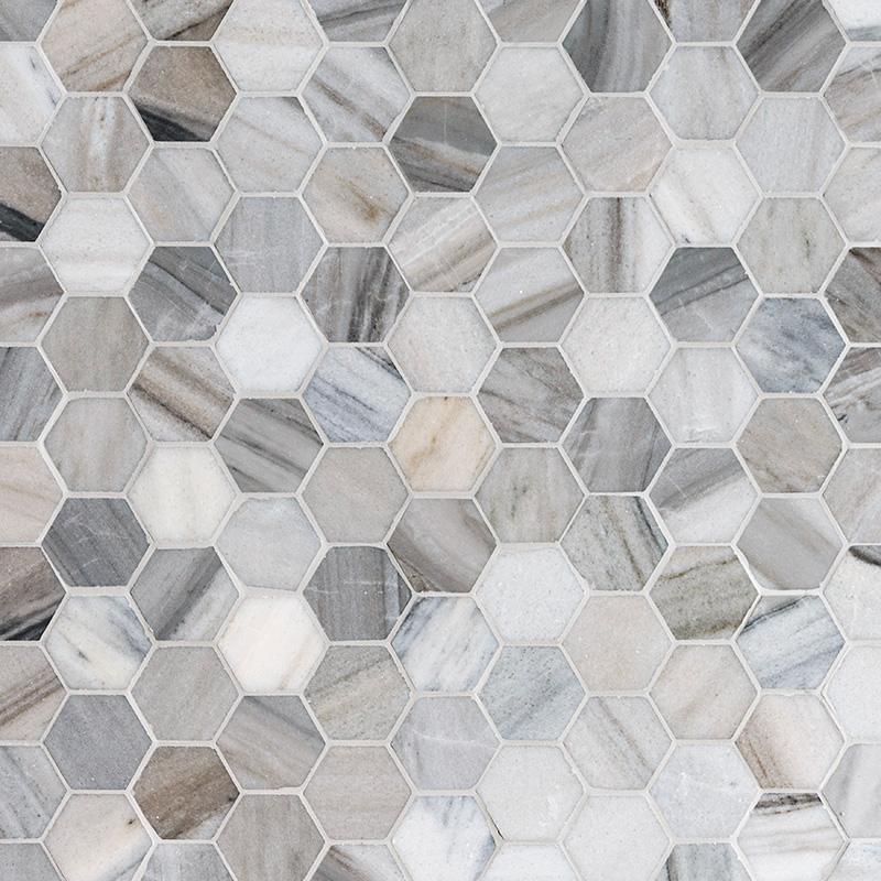 Skyline Honed Hexagon Marble Mosaics 26,5×30,5