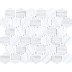 Bianco Dolomiti Classic Polished Hexagon Marble Mosaics 26,5x31