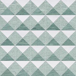 Verde Capri, Snow White Multi Finish Devon Marble Mosaics 31x31