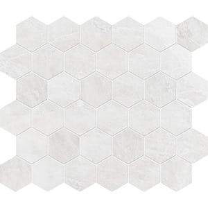 Iceberg Polished Hexagon Marble Mosaics 26,5x31