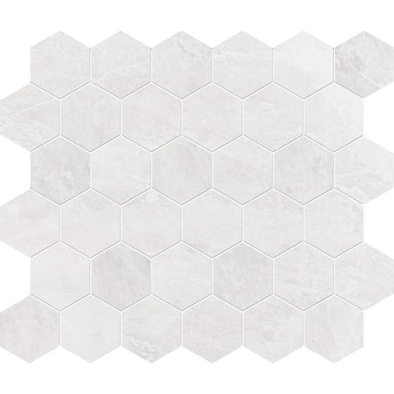 Iceberg Polished Hexagon Marble Mosaics 26,5×31