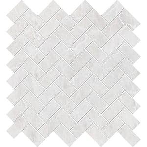 Iceberg Polished Herringbone Marble Mosaics 30,5x33,5
