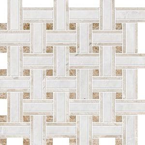 Iceberg, Diana Royal, Paradise Polished Lattice Marble Mosaics 30,5x30,5