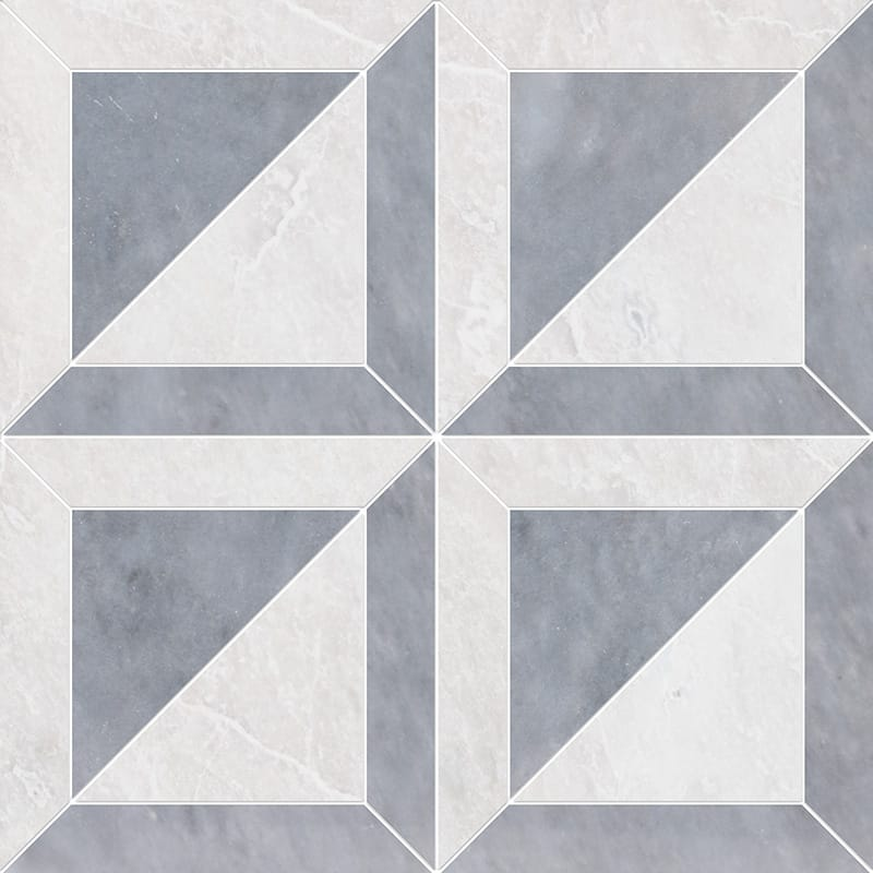 Iceberg, Allure Polished York Marble Mosaics 30,32x30,32