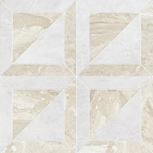 Iceberg, Diana Royal Polished York Marble Mosaics 30,32x30,32