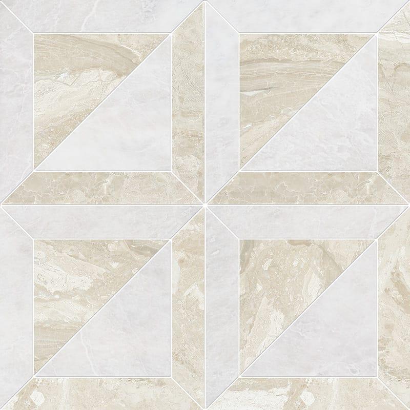 Iceberg, Diana Royal Polished York Marble Mosaics 30,32x30,32