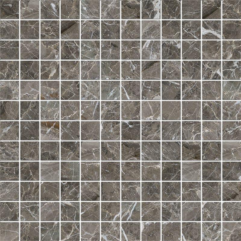 Arctic Gray Polished 2,3x2,3 Marble Mosaics 30,5x30,5