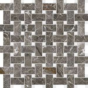 Arctic Gray Polished Basket Weave Marble Mosaics 30,5x30,5