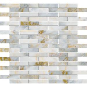 Calacatta Fusion Polished 5/8x3 Marble Mosaics 30,5x30,5