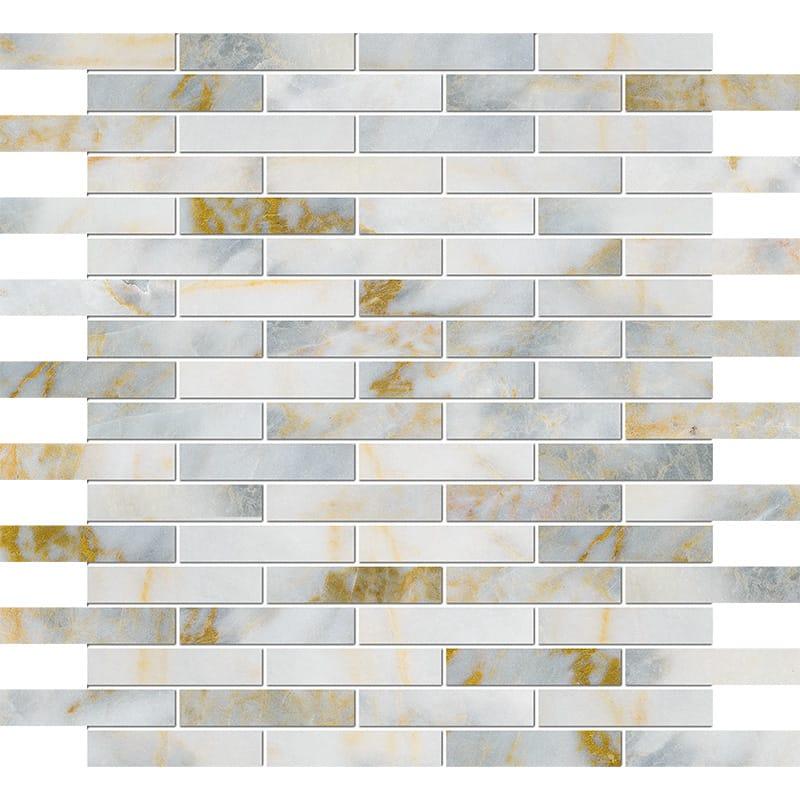 Calacatta Fusion Polished 5/8×3 Marble Mosaics 30,5×30,5