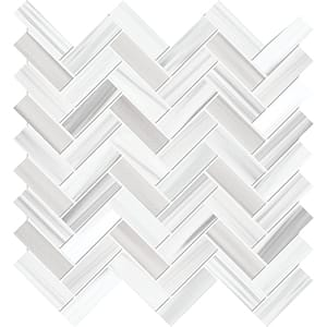 Frost White Honed Marble Mosaics 30,5x33,5