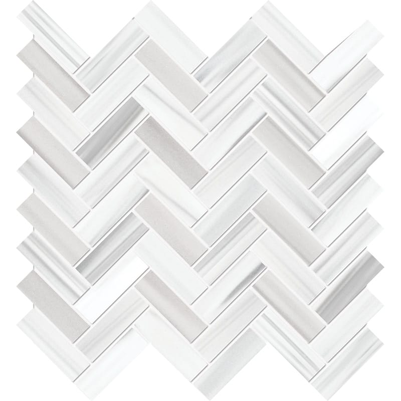 Frost White Honed Marble Mosaics 30,5×33,5