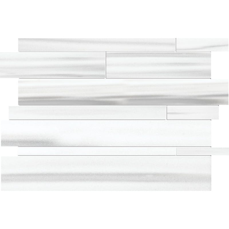 Frost White Honed Marble Mosaics 27,94×33,40