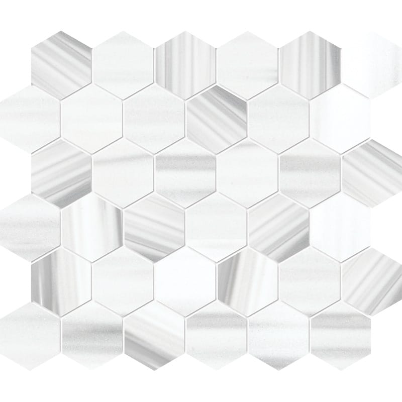 Frost White Honed Marble Mosaics 26,5×31
