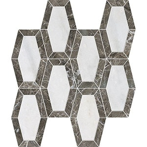 Avalon, Silver Drop Polished Lincoln Marble Mosaics 26x32,5