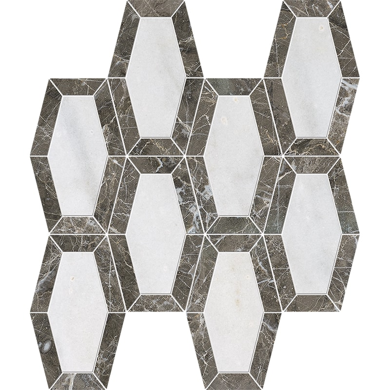 Avalon, Silver Drop Polished Lincoln Marble Mosaics 26×32,5