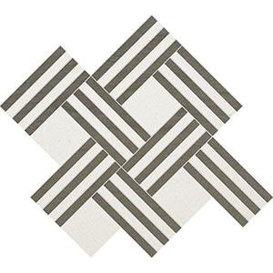 Champagne, Bosphorus Honed Maze Basket Limestone Mosaics 38x45
