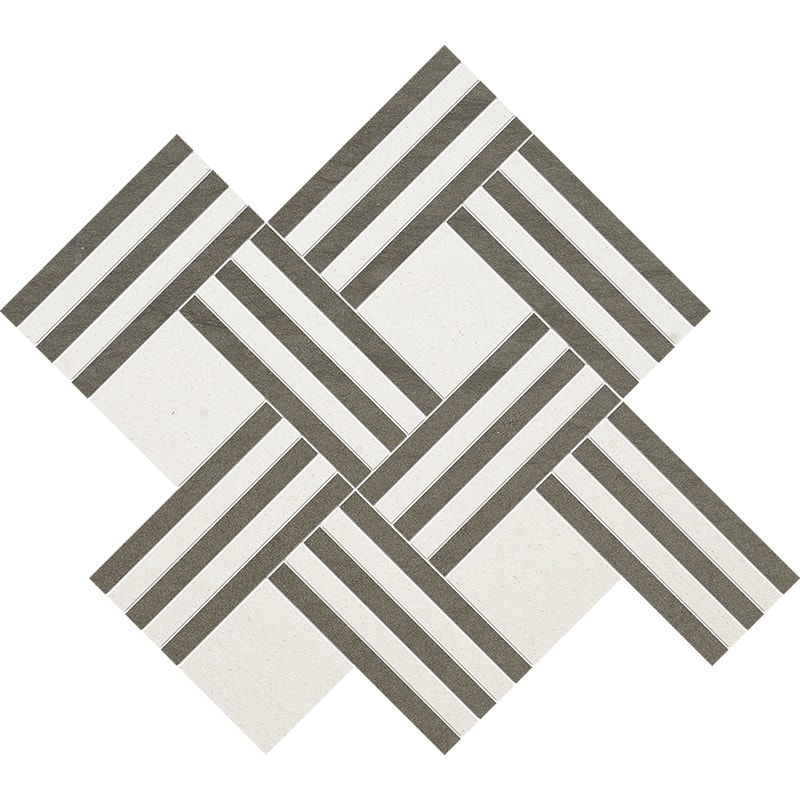 Champagne, Bosphorus Honed Maze Basket Limestone Mosaics 38×45