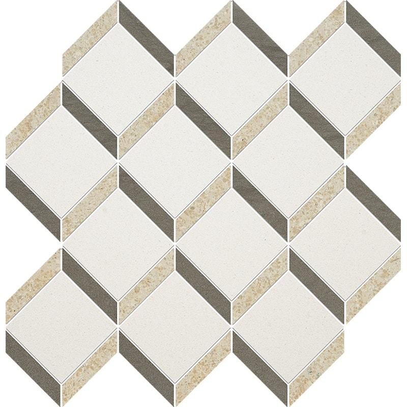 Champagne, Seashell, Bosphorus Honed Steps 3d Limestone Mosaics 37×38