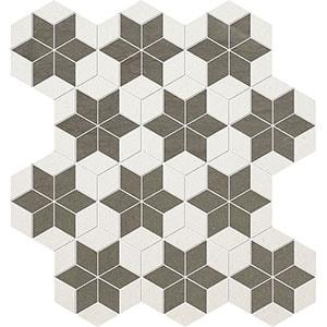 Bosphorus, Champagne Honed Stars Limestone Mosaics 36x38