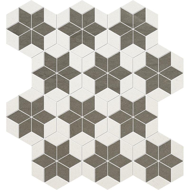 Bosphorus, Champagne Honed Stars Limestone Mosaics 36×38