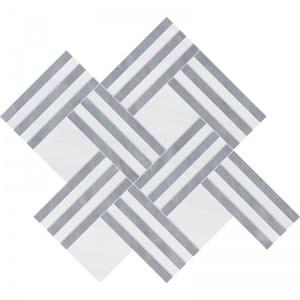 Snow White, Allure Multi Finish Maze Basket Marble Mosaics 38x45