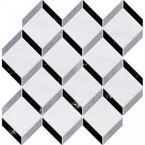 Snow White, Allure Multi Finish Steps 3d Marble Mosaics 37x38