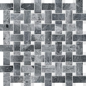 Haisa Black&snow White Polished Basket Weave Marble Mosaics 30,5x30,5