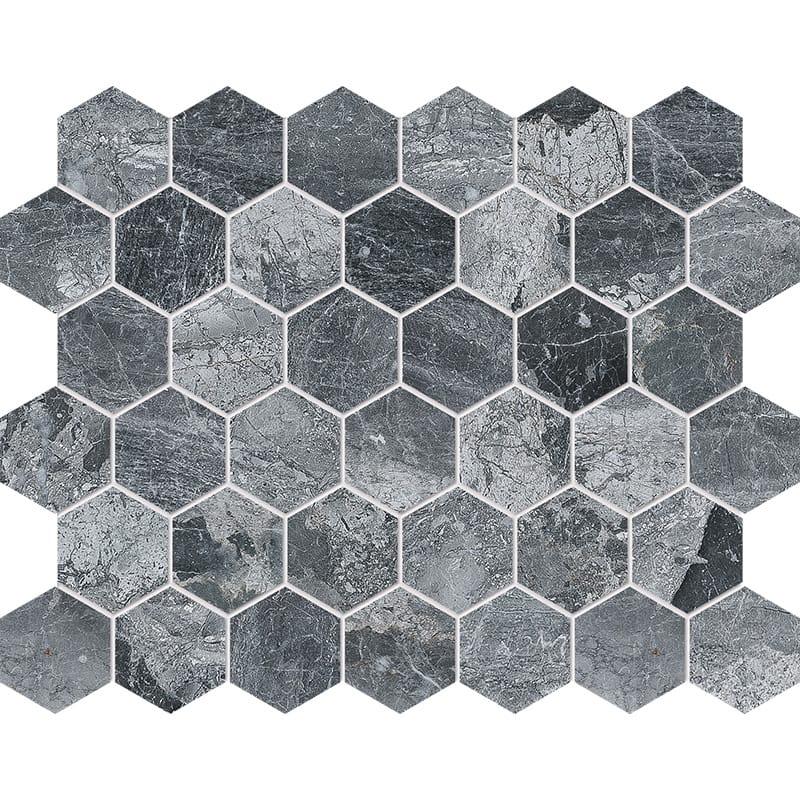 Haisa Black Polished Hexagon Marble Mosaics 26,5×30,5