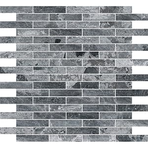 Haisa Black Polished 5/8x3 Marble Mosaics 30,5x30,5