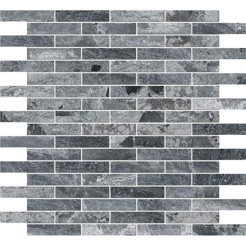 Haisa Black Polished 5/8×3 Marble Mosaics 30,5×30,5