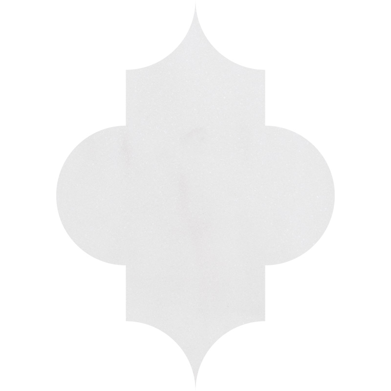 Aspen White Honed 20x28 Arabesque Marble Waterjet Decos