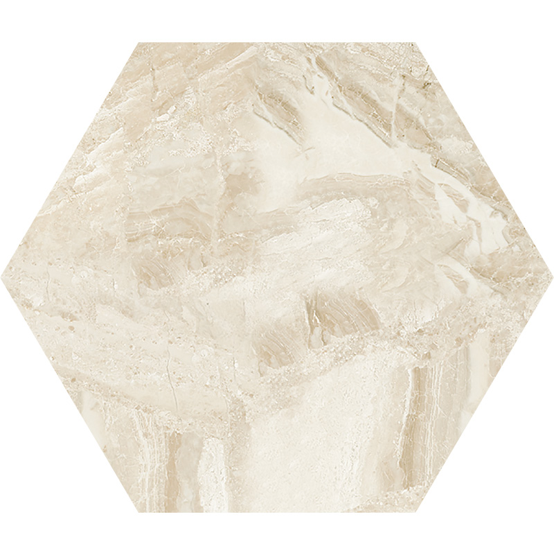 Diana Royal Honed 14,5x12,5 Hexagon Marble Waterjet Decos