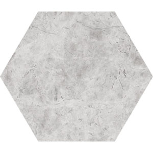 Silver Shadow Honed Hexagon Marble Waterjet Decos 14,5x12,5