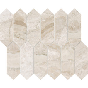 Diana Royal Polished Medium Picket Marble Waterjet Decos 33,5x28
