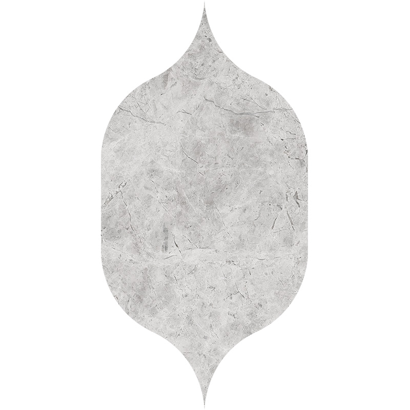 Silver Shadow Honed 12,5x22,5 Gothic Arabesque Marble Waterjet Decos