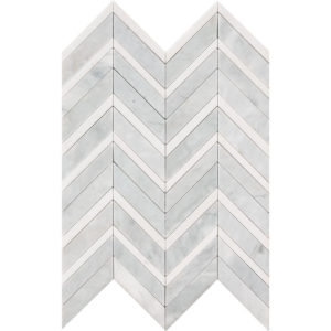 Avenza Honed&polished Chevron Fusion Marble Mosaics 30,2x40,6