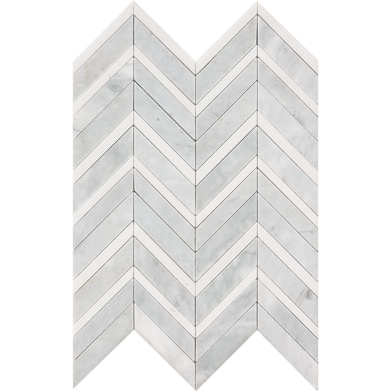 Avenza Honed&polished 30,5x29 Chevron Fusion Marble Waterjet Decos