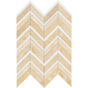 Seashell Honed&polished Chevron Fusion Limestone Mosaics 30,2x40,6